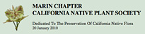 Marin Chapter - California Native Plant Society